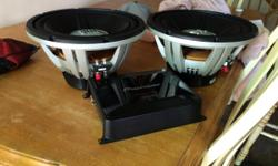 I am selling two 12 inch JBL Grand Touring series GTO-1214D Subwoofers both rated at 1200 watts Peak Power 600 Rms, and an amplifier to power both of them perfectly from pioneer Gm-86001 never had it over heat once on me it is also tuned and all of
