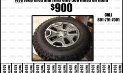 """Brand new Set of 5 off a 2016 Jeep factory 255/75 R 17"""" BFG tires and rims. (5x5 bolt pattern) off JK Wrangler 4-Door. Brand new take offs. Wheels are in perfect condition and will fit JK model Jeeps and other vehicles with matching 5 bolt"""