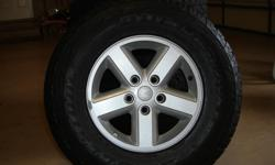 Jeep Wrangler Wheels and Tires. (5) P265/70/R16. Like new condition. 40k tread wear remaining on tires. Great Value.