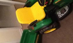 have a john deere battery operated tractor with little trailer behind in excellent condition if interested call
