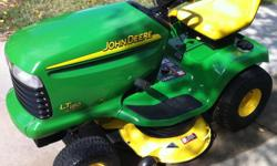 """John Deere LT180 17 hp lawn tractor. Well maintained in great shape. Only 178 hours. Looks like new. Auto trans, Hydro, 42"""" mulching mower Price: $1450 or offer. 770-910-3583."""