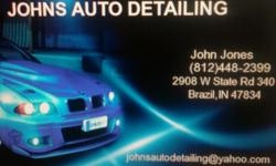 Full Service Auto Detail Shop located in the Syx Car Audio Building2908 W State Rd 340Brazil, IN 47834 Choose from ourMANY detail packages starting at $29(hand wash and wax, wheels, tires, windows) We offer Convertible Top Cleaning