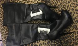 ***price reduced*** Absolutely gorgeous boots! Soft leather, size 8 boots. Only wore once. There is one small scuff on each boot. The bottoms and heel tips are in great shape. They are Shi brand by Journeys shoes. They were on sale when I bought them and
