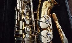 Gold jupiter alto saxaphone
