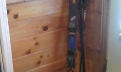 K-2 Woman skis for sale. Only used 4 times. Need to be tuned up and sharpened. Boot size 5, heel 5. Serious inquiries only. Please call -- if interested.