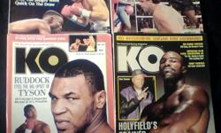 K.O. Boxing Magazine // 13 Issues  //  $20.00 for all  // Condition: Very Good-Good Cover: Mike Tyson / May 1991 / Poster: Luisito Espinosa Cover: Evander Holyfield // Mar. 1997 / Poster: Vinny Pazienza Cover: Tyson &