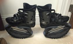 Large black male Kangoo exercise shoes only worn one time in house like new. Bought for $230.