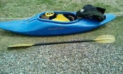 Liquid logic playboat with skirt and paddle 300$ obo