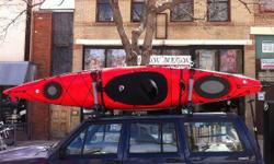 12' all purpose kayak, with rudder system. Excellent storage, front and back bulkheads are sound. Adjustable, comfortable seating. Includes Seal surf skirt and Bending Branches Infusion paddle (each a $100 item). I hate to part with this guy, especially