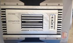 Selling a Kenwood KAC-X520 1000 Watt amplifier. From crutchfield.com, some of its specs are below as well as the link to the page: 125 watts RMS x 2 at 4 ohms 250 watts RMS x 2 at 2 ohms 500 watts RMS x 1 at 4 ohms in bridged mode