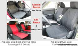 Kia Soul Custom Fit Canvas Seat Covers This is the Least expensive way to make your seats look Great Again Call Danny @ 800-44-3274 for Assistance or to place your Custom Order We offer Custom Seat Covers for Most Cars Trucks SUV's & Vans