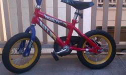 Red bicycle,great shape,excellent running,training wheels available!READY TO GO!!!!! ...