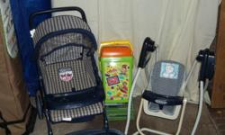 Toy baby swing that automatic swings,Toy baby stroller,Small building blocks.$8. each item All in good condition great christmas present.Must sell today 12/23/2012