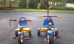 Great starter bike. $25 Obo. Smaller bike pictured is for sale. Aslo have 2 wheeled bike that fits up to a 3 year old, with training wheels. Both for $50.