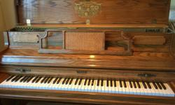 """Light Oak. lIghtly used. Console with 88 keys - 57""""W - 25""""D - 42""""ht. Very good condition with recent tune up."""