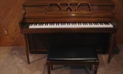 Piano and bench for sale. $750 O.B.O