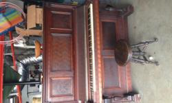 This piano is beautiful. It is an antique.It needs tuning and a couple keys replaced, but it isbeautiful. If you buy it, you must come and get it. It is extremely heavy and I won't be able to help load it. I originally acquired it to use as a