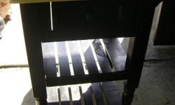 Black kitchen cart with wheels, one drawer. Contact Sherry Cash only! --