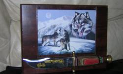 wolfes picture with knife on it