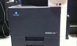 Greeting All! Here we have a Konica Minolta Bizhub C353 that is fully tested for functionality and appearance. The Konica Minolta bizhub C353 multi function printer has a bold new design that puts high-speed multi-function power at the hub of your