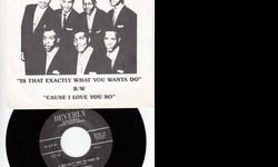 Like~Brand~New Repro w/Picture Sleeve That's Hard To Find ! Flip Is 'Cause I Love You' On Beverly 702 !! See All My Rare Items For Sale Here & Also At http://www.bonanza.com/thedowopshop