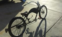 """Kustom cruiser! One of a Kind. Kustom handlebars, kustom Springer forks, kustom tail light and suicide shifter. Worksmen cycle rims. A steal at $250. THIS ITEM IS CASH ONLY! so, all you scammers take note, 1. NO I will not accept a """"cashier's"""" check! 2."""
