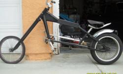 "One of a kind Schwinn Orange County Choppers bike. Chopped and stretched 12"", kustom handlebars. Triple tree forks. This bike is fun to ride and is a serious head turner!"
