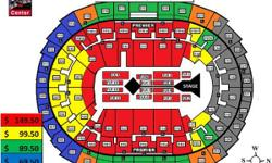 UP CLOSE with ADELE!! Floor 5 Row 18 Seats: 13&14! Right by the stage!! This is a ticketless venue which means that our tickets, yours and mine, will be printed AT the venue. My friend and I have the two seats right next to you and we will be happy