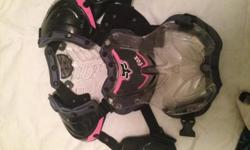 medium fox motocross riding gear,shirt, pants FOX, NFZ helmet,and and chest protector. worn once