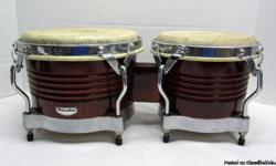 These bongos are in good working condition, they are missing (1) rubber peg . Color: Almond Brown/Chrome Selling for $85 Or Best Offer CA$H & CARRY ONLY! NO TRADES, NO DELIVERY Call or TEXT 773-563-2600