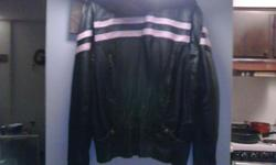 Leather jacket says 3x,but fits like a large paid $400,asking $150.