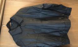 black leather jacket new never worn. Size 40 reg