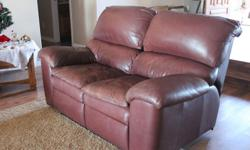 We had this set custom built to have a Queen size sleeper sofa and both sides of the Love Seat Recline seperatly. Doesn't fit in house anymore need to sell.