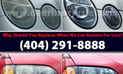 ============================================================================================================= ***** WE RESTORE, NOT JUST CLEAN! ***** Every Headlight Restoration process differ. Depending on cars make/model/condition. Don't settle for
