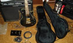All 3 items are in like new condition. It includes; floor pedal, cords, spare strings. Due to arthritis in hands my playing days ended. You will be quite pleased with purchase.  Note: I will not separate. This is also listed