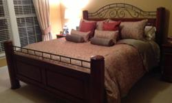 """Selling this beautiful King bed and night stand. Both solid cherry! From Lexington's """"The World of Bob Timberlake"""" Collection. Discontinued and hard to find. Selling both for $1800 OBO. Might be willing to sell"""