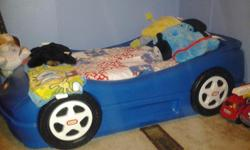 I have a Little Tykes Race Car bed for sale. Mattress not included.