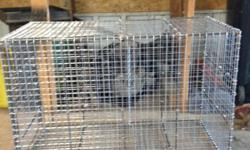 """We have live traps for sale. 15x15x36"""" is $65 each or $715 per dozen, 15x20x36"""" is $80 each or $880 per dozen, 18x24x36"""" is $100 each or $1100 per dozen. Also offer custom sizes and styles. Everything is made to order. Available for pick up or delivery"""