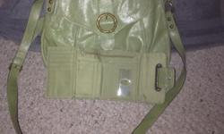 """Matching Liz Claiborne purse and wallet, purse is 12"""" x 10"""", strap is 42"""" long and adjustable. Independence area pickup"""