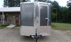 Stock #: custom order Serial #:order Description :::::::: standard features: v-nose front w/ solid front wall construction, rear ramp door & spring assist, 32? side door w/ rv flush lock w/ keys, thermacool