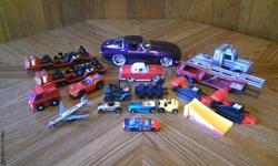 Lot of 10 Matchbox/Hotwheels Cars and Trucks all in fair to good condition except Matchbox missle carriers. they have damage to wheels. For more info please call 1-207-337-0443. Thank You.