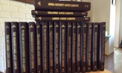 The Louis L'Amour's Sackett Collection Set (19 Volumes) The books include:, Galloway, Jubal Sackett, Lando, Lonely on the Mountain, Mojave Crossing, Mustang Man, Ride the River, Ride The Dark Trail, Sackett, Sackett's Land, The Daybreakers, The Lonely
