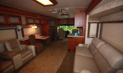 Comfort and Luxury are on your Horizon. Luxury is summed up by upscale amenities. In two words: Winnebago Horizon. Even to the small details of the day/night pleated shades that offer total control over sunlight and privacy levels. The list of amenities