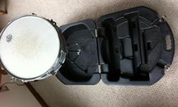 Ludwig Snare Drum with Stand and hard case.  In good shape.  For more information leave a phone # or e-mail address and I will be happy to answer any questions before Oct. 20, 2013.