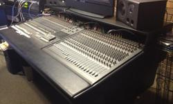 This is the Mackie analog 24.8.2 8 bus recording board with matching 24 channel expander board to make 48 channels. This amazing board has only been used in a smoke free recording studio. It comes with the rackmount power supplies as well as a custom fit