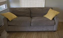 Macy's Couch for sale. 225 or best offer. Nice Neutral Color- Taupe/Gray, Modern style Purchased several years ago from Macy's. In VERY good condition! Lots of life left and very comfortable! Washable. I'm sad to see this couch go. It's so cozy. Not a