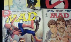 Mad Magazine / Cracked Magazine //   18 Issues  //  $20.00 for all  //  Condition: Very Good-Good MAD Super Special / Winter 1979 Issue #210  / Oct. 1979 Issue #249  /  Sept. 1984 Issue #276  / Jan. 1988