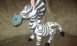 "11"" Stuffed Plush Marty the Zebra Doll from Dreamwork's Madagascar 3 Movie"
