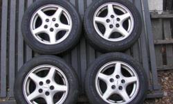 Aftermarket Mag Wheels and tires for 1993 to 2002 Cameros and Firebirds All tires in good shape ? have lots of tread ? no side cracking Firestone ?Indy 500?s? R235/55R16   96T ? M+S // T-Rated (120MPH) TREADWEAR 500 ? TRACTION A ? TEMPURATURE