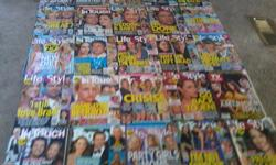 hi i have some magazines i no longer read 2 u s weekly good condition 2 star good condition 3 ok weekly decent condition 1 people good condition 20 in touch weekly good condition 24 life & style good condition 6 magazines covers missing the magazines